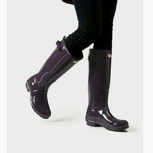 Hunter Original Back Adjustable Glossy Rain Boots
